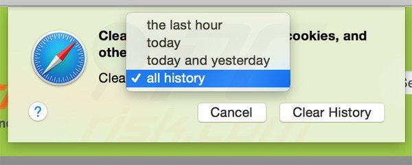 resetting safari settings to default step 7 - clearing history