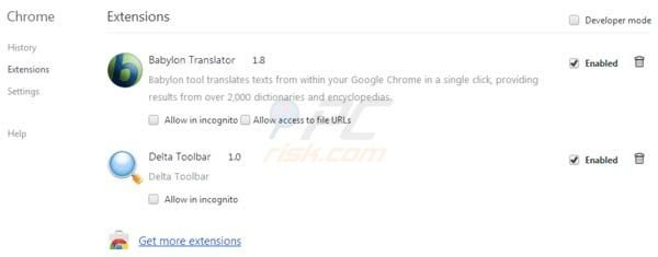 suppression de la redirection vers delta-search.com dans Google Chrome