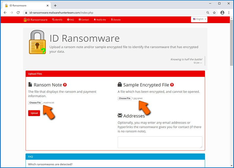 Identifier l'infection de type ransomware (étape 3)