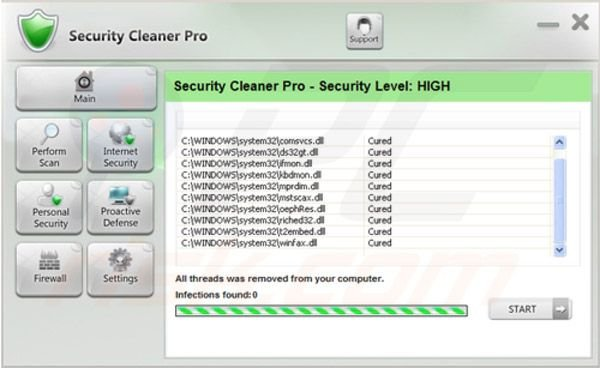 étape de suppression 4 de Security Cleaner Pro