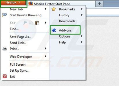 Suppression des extensions de Zoom downloader dans Mozilla Firefox étape 1