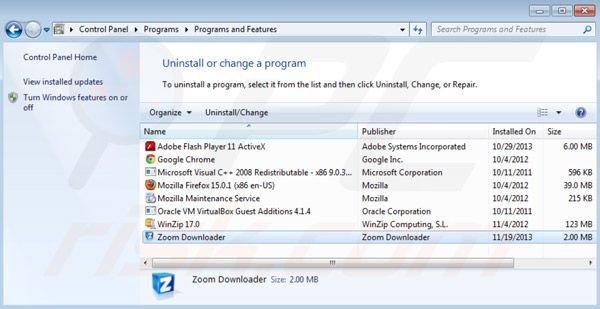 désinstallation de Zoom downloader