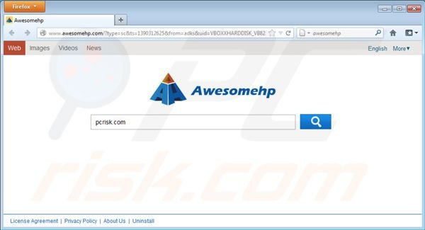 Virus Awesomehp.com