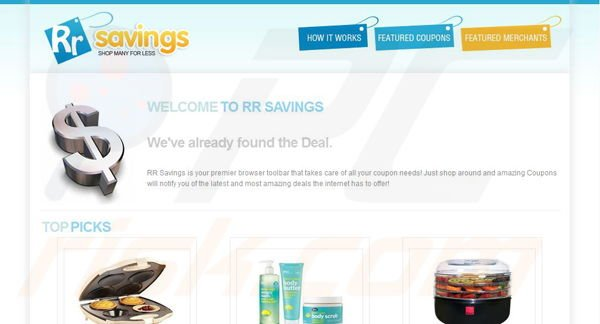 Barre d'outils RR Savings