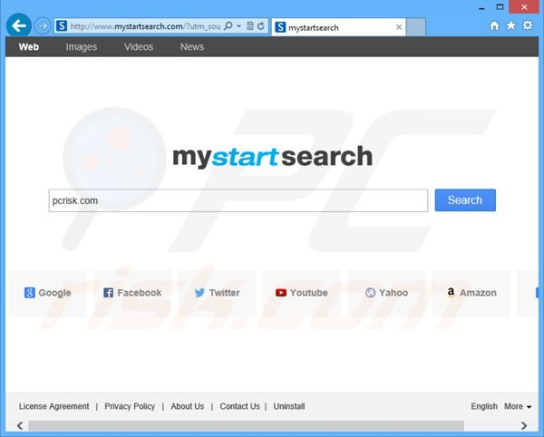 Pirate de navigateur mystartsearch.com
