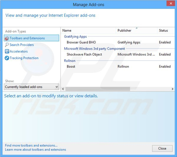 Removing mystartsearch.com related Internet Explorer extensions