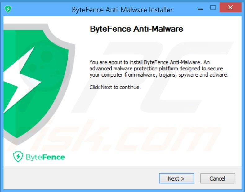 Configuration de l,installation de l'application ByteFence