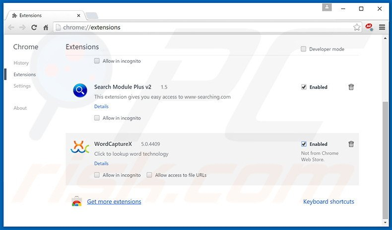 Suppression des publicités Browsing Secure dans Google Chrome étape 2