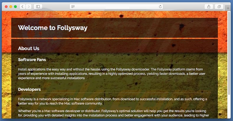 Dubious website used to promote search.follysway.com