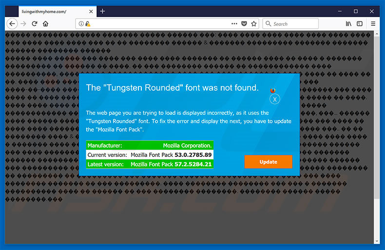 The Tungsten Rounded Font Was Not Found Mozilla Firefox
