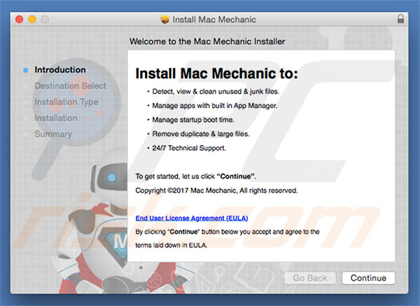 Delusive installer used to promote Mac Mechanic