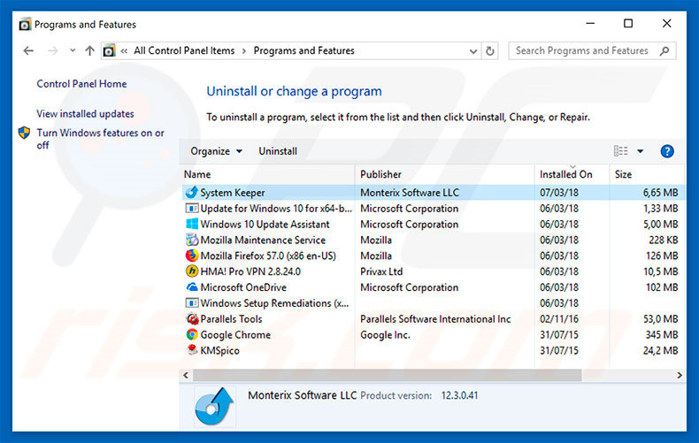 Your Windows 10 Is Infected With 3 Viruses adware uninstall via Control Panel