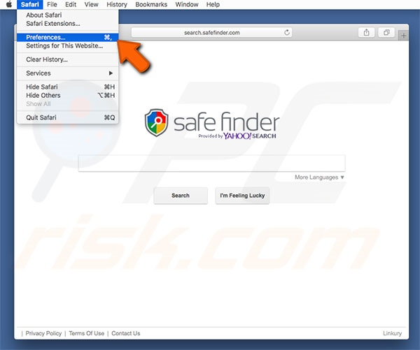 Options Safe Finder cdans Safari Étape 1