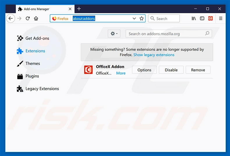 Removing gosearchresults.com related Mozilla Firefox extensions