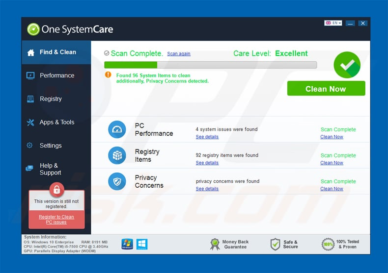 Application one systemcare