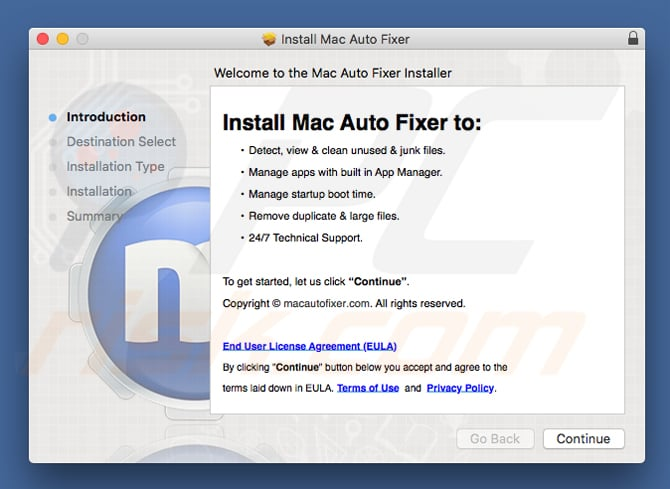 Configuration de Mac Auto Fixer