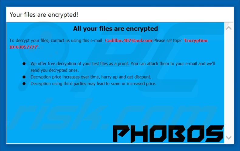 Phobos decrypt instructions