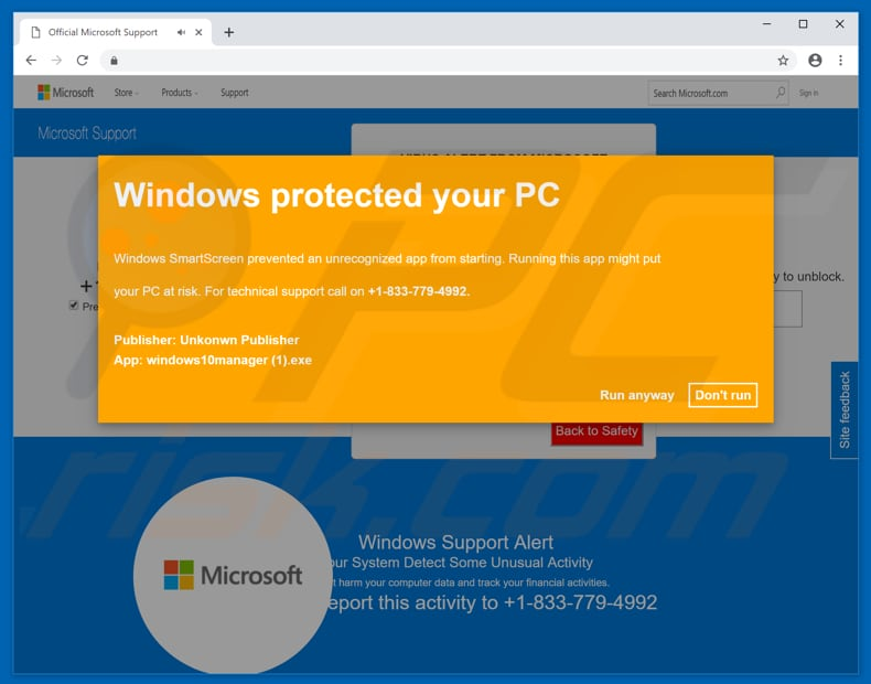 windows protected your pc second pop-up