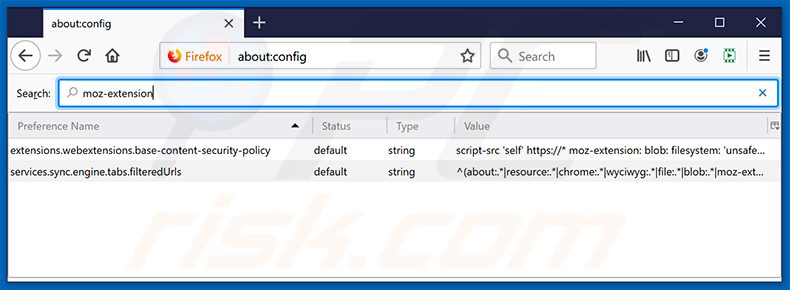 Removing splendidsearch.com from Mozilla Firefox default search engine