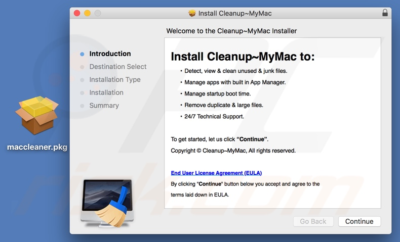 Installer used to spread Cleanup My Mac unwanted application