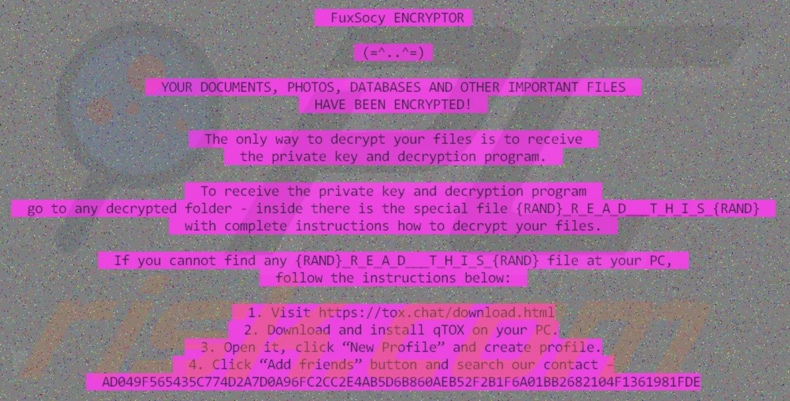 FuxSocy ENCRYPTOR decrypt instructions