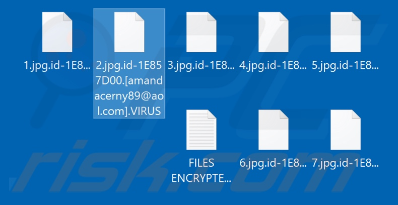 Files encrypted by .VIRUS