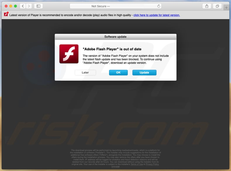 adobe-flash-player-is-out-of-date-scam-homepage
