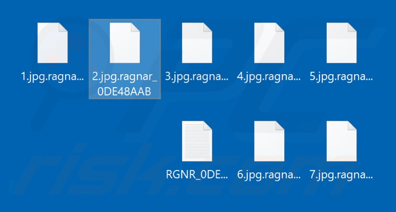 Files encrypted by Ragnar Locker ransomware (.ragnar_0DE48AAB extension)