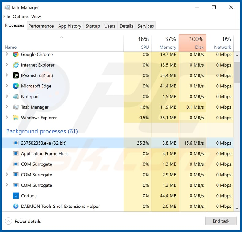 avvadon 237502353.exe malicious process in task manager