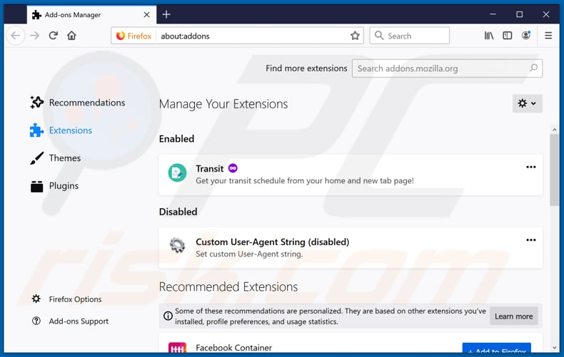 Removing streamall-search.com related Mozilla Firefox extensions