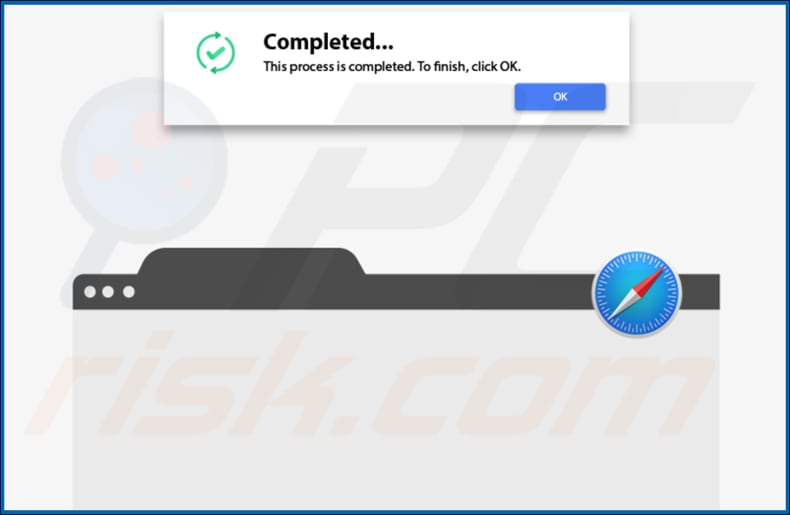 validgenerationa adware pop-up displayed once installation is finished